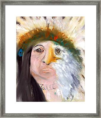 Chief Black Eagle Framed Print