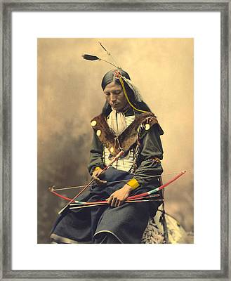 Chief Bone Necklace Oglala Lakota Framed Print
