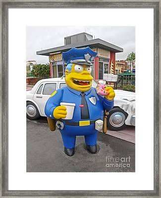 Chief Clancy Wiggum From The Simpsons Framed Print