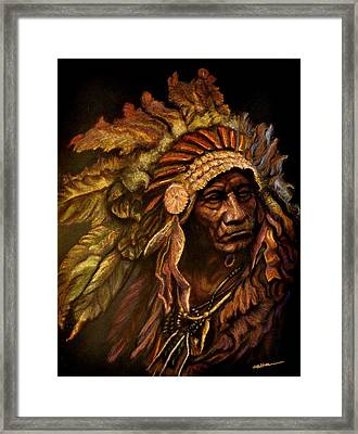 Chief Dark Horse Framed Print by Wade Starr