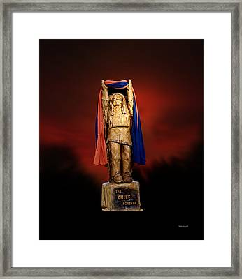 Chief Illiniwek University Of Illinois 06 Framed Print