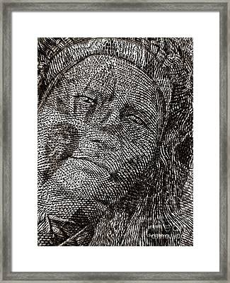 Chief In Brown  Framed Print by Chris Berry
