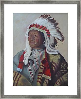 Chief Iron Tail Framed Print by Kathy Przepadlo