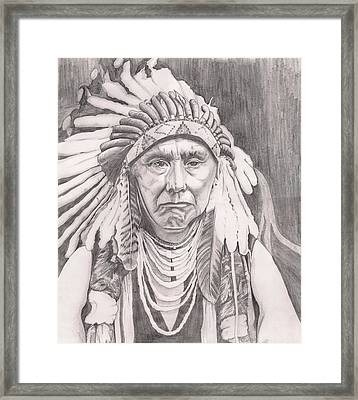 Chief Joseph Framed Print by Beverly Marshall