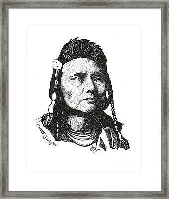 Chief Joseph Framed Print by Clayton Cannaday