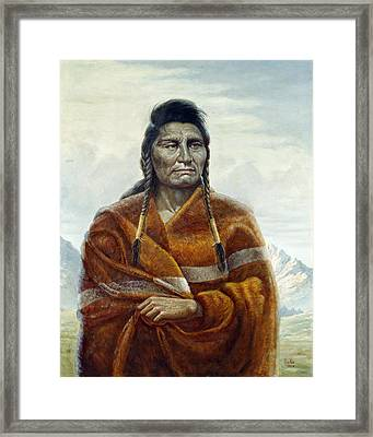 Chief Joseph Framed Print by Gregory Perillo
