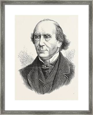 Chief Justice Whiteside, Engraving 1876, Uk, Britain Framed Print