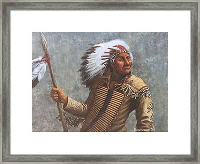 Chief Knife Framed Print by Lee Bowerman