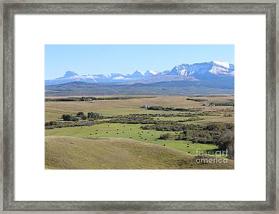 Framed Print featuring the photograph Chief Mountain by Ann E Robson