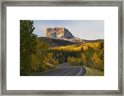 Chief Mountain Highway Framed Print