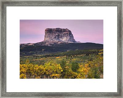 Chief Mountain Sunrise Framed Print by Mark Kiver