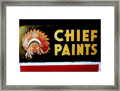 Chief Paints Sign Framed Print