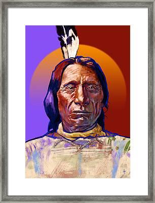 Chief Red Cloud Framed Print by Arie Van der Wijst