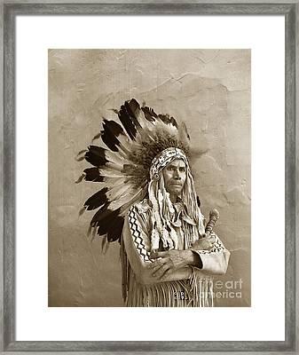 Chief Red Eagle Carmel California Circa 1940 Framed Print
