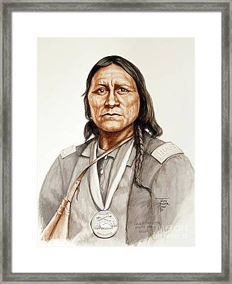 Chief Satanta Framed Print