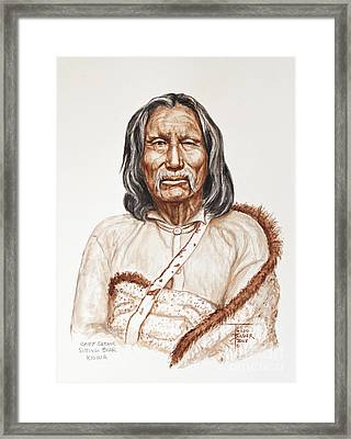 Chief Satnak - Kiowa Framed Print by Art By - Ti   Tolpo Bader