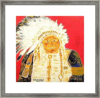 Chief Seattle 1 Framed Print by Richard W Linford