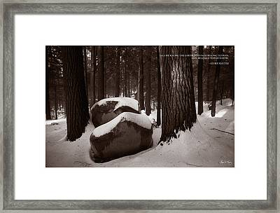 Chief Seattle - Sunlight On A Winter Woods Framed Print