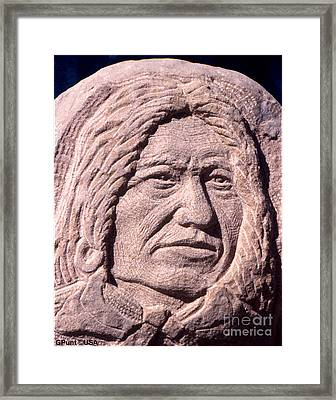 Chief-spotted-tail Framed Print by Gordon Punt