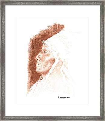 Chief Strangehorse Framed Print by Paul Shafranski