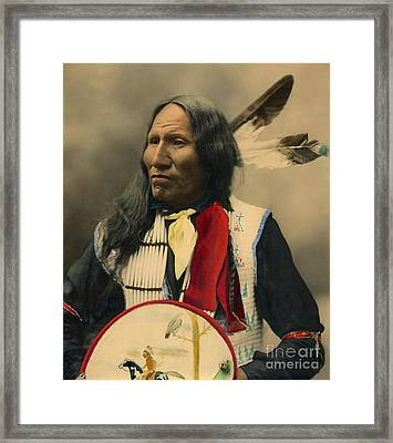 Framed Print featuring the photograph Chief Strikes With Nose 1899 by Heyn