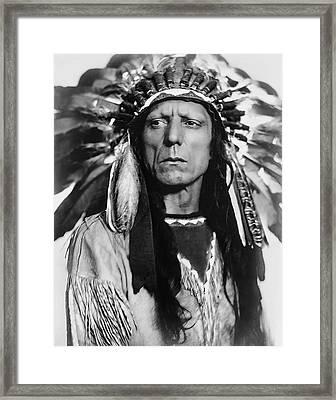 Chief War Eagle C. 1909 Framed Print by Daniel Hagerman