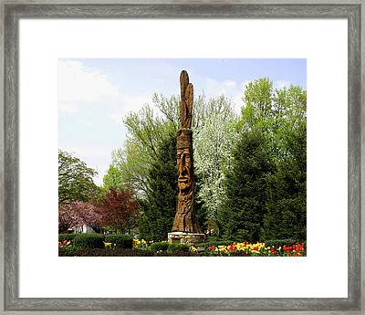 Chief Woapalanee Welcomes Spring Framed Print