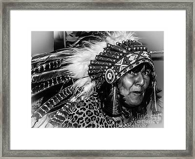 Chiefess Headress Framed Print by Michael Canning