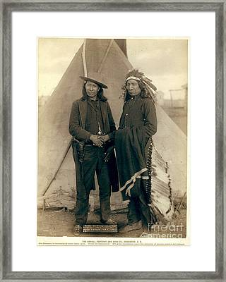 Chiefs American Horse And Red Cloud Framed Print by Celestial Images