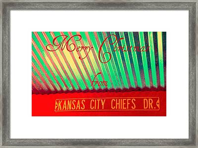 Chiefs Christmas Framed Print by Chris Berry