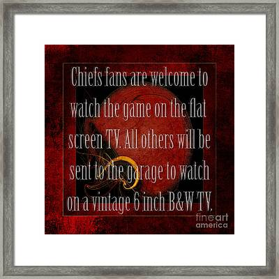 Chiefs Fans Welcome Framed Print by Andee Design