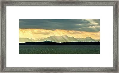 Chiemsee, Germany, Sunrays Framed Print