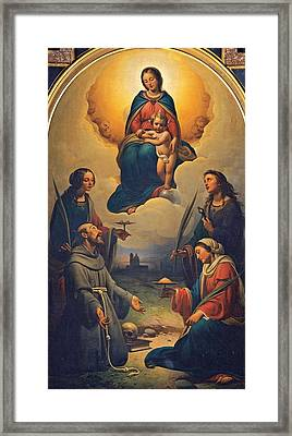Chierici Alfonso, Madonna And Child Framed Print by Everett