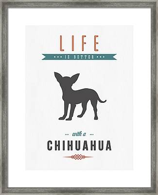 Chihuahua 01 Framed Print by Aged Pixel