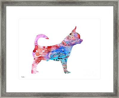 Chihuahua 2 Framed Print by Watercolor Girl