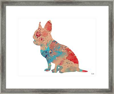 Chihuahua 3 Framed Print by Watercolor Girl