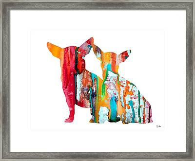 Chihuahua 4 Framed Print by Watercolor Girl