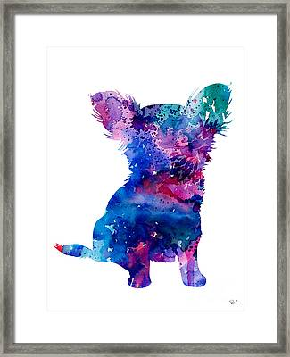Chihuahua 5 Framed Print by Watercolor Girl