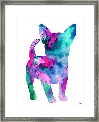 Chihuahua 6 Framed Print by Watercolor Girl