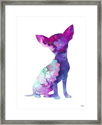 Chihuahua 7 Framed Print by Watercolor Girl