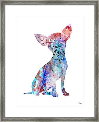 Chihuahua 8 Framed Print by Watercolor Girl