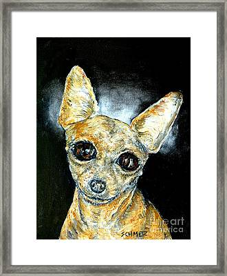 Chihuahua Angel Framed Print by Jay  Schmetz