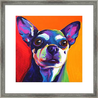 Chihuahua - Dolce Framed Print by Alicia VanNoy Call