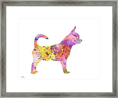 Chihuahua Framed Print by Watercolor Girl
