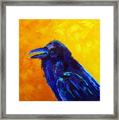 Chihuahuan Raven Framed Print