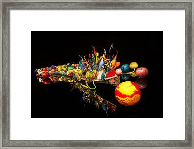 Chihuly Float Boat Framed Print