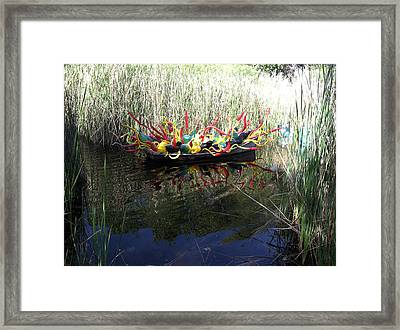 Chihuly Glass In Boat Framed Print by Jack Edson Adams