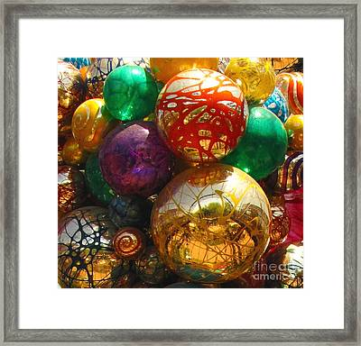 Chihuly In The Garden Framed Print by Marilyn Smith