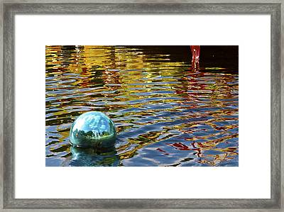 Framed Print featuring the photograph Chihuly Reflection I by John Babis
