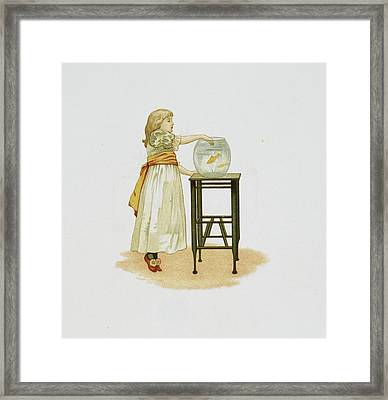 Child And Goldfish Bowl Framed Print by British Library
